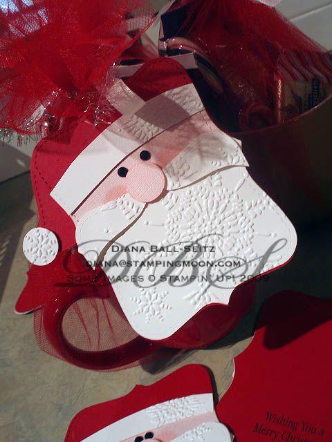 Stampin' Up! Christmas   Top Note SantaChristmas Cards, Note Santa, Punch Art, Gift Cards, Santa Cards, Gift Tags, Note Die, Stampin Up Christmas, Tops Note