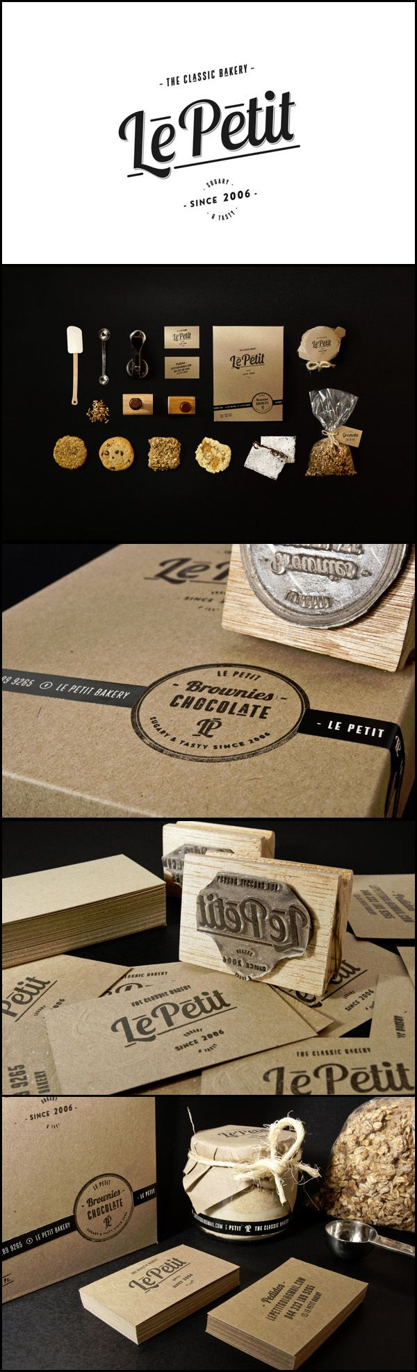 "Le Petit Bakery  Branding, Packaging Could be MY ""La Petite Patisserie""! Tasteful use of Lobster ;)"