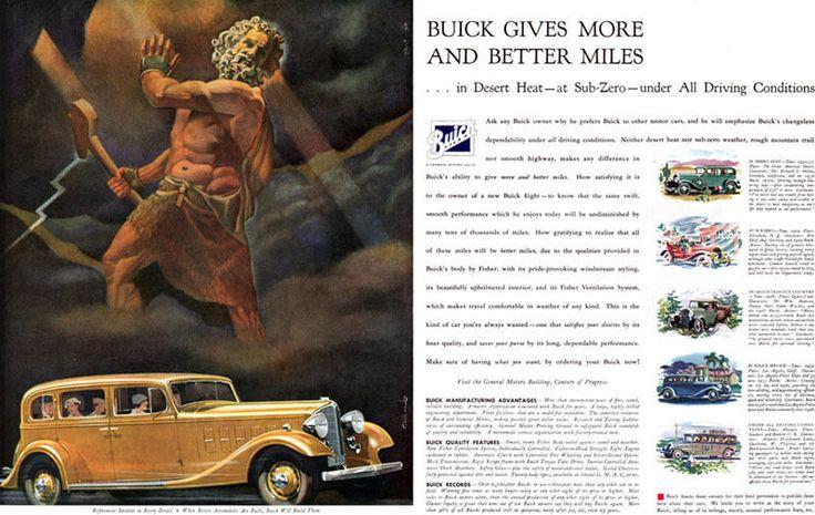 Ac Auto Repair >> General Motors Buick Eight ZEUS Greek Mythology LARGE ...