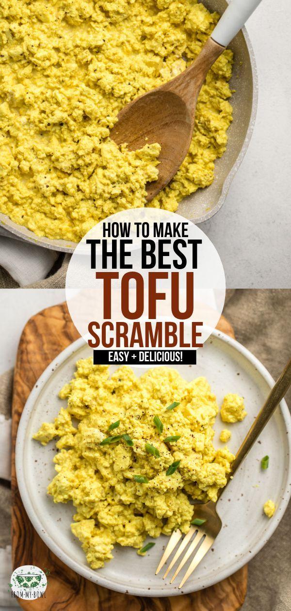 The Best Tofu Scramble Recipe Vegan Egg Substitute From My Bowl Recipe Scrambled Tofu Recipe Whole Food Recipes Vegan Egg Substitute