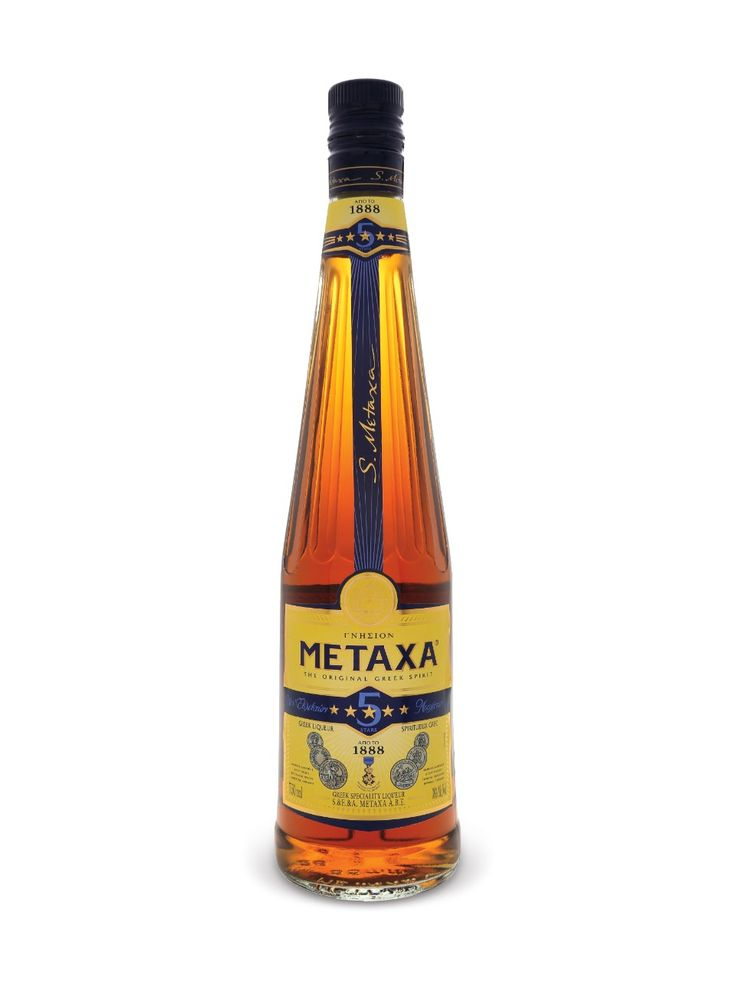 to flame saganaki ,  Metaxa Five Star Brandy  greek brandy