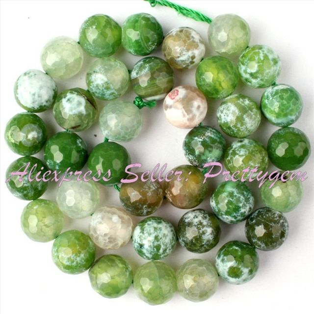 Round Faceted Cracked Fire Agate Stone Beads 10mm Strand 15 Stone Beads Diy Bracelets Diy Jewelry Making