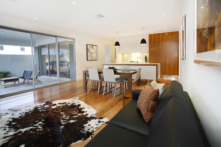 Open plan living allows the main living areas of the home to interact seamlessly...
