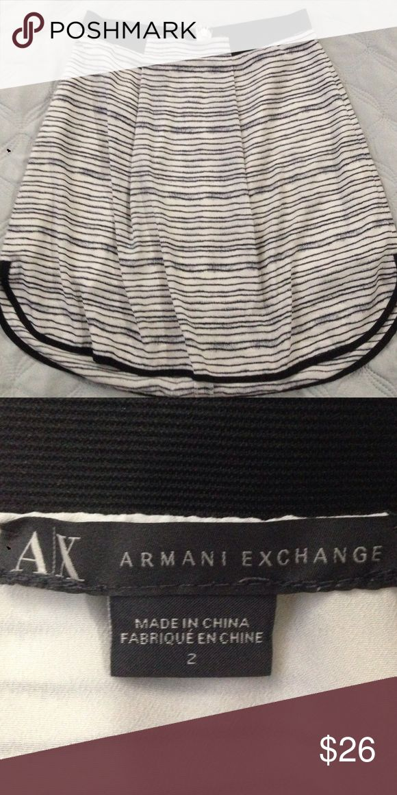 Armani exchange skirt Armani exchange skirt black and white impeccable Armani Exchange Skirts Midi