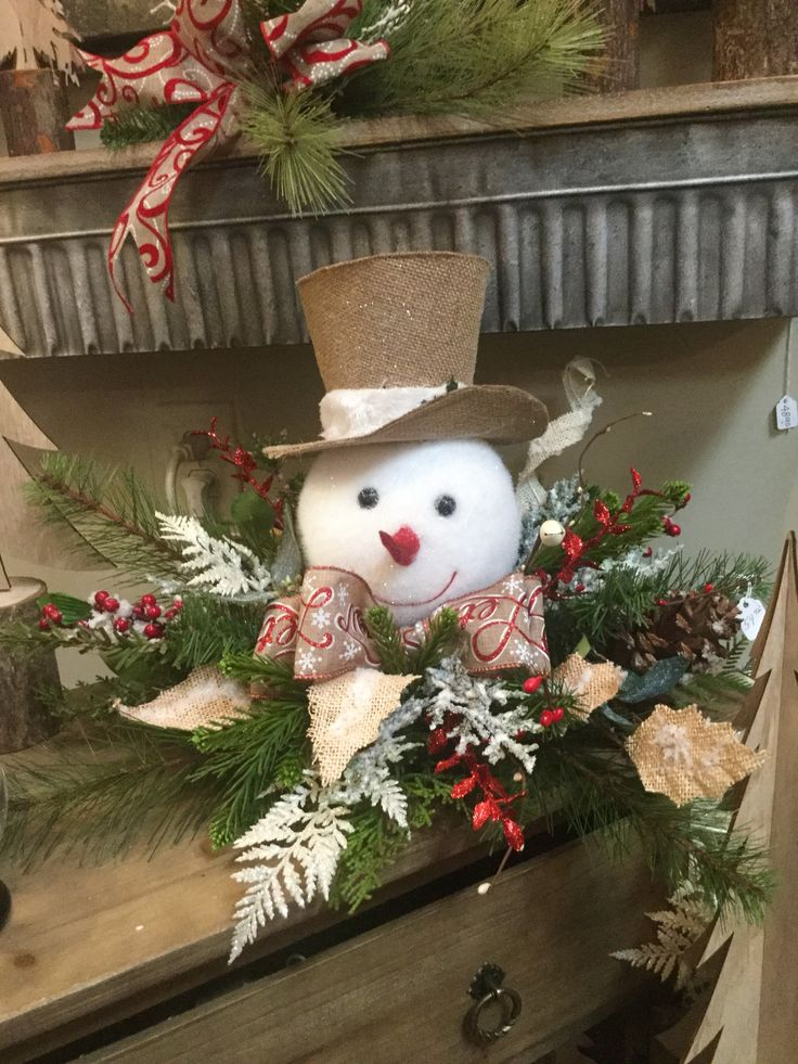 Snowman Centerpiece Christmas Hanging Decorations