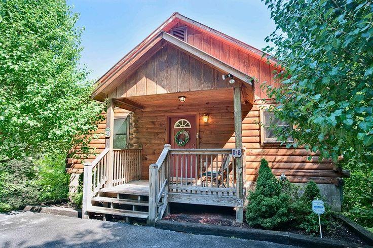 NAUGHTY N NICE 1 bedroom Cabin in Gatlinburg, TN wood view