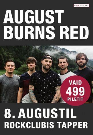 Yhdysvaltalainen metalcorea soittava August Burns Red saapuu esiintymään Rockclub Tapperiin 8.8. #augustburnsred #eckeröline #tallinna #tallinn