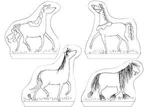 Knutselplaats Drie dappere paardjes