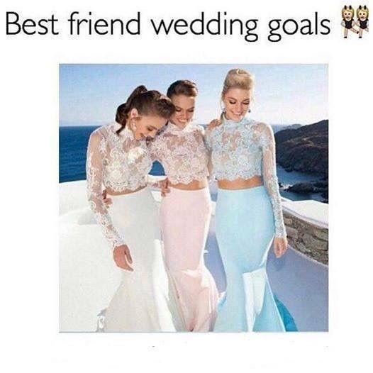Best Friend Wedding Goals ️ Squad Goals ️ Pinterest