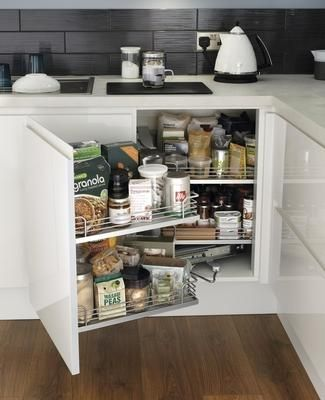 35 best images about white gloss kitchen on pinterest for White gloss kitchen corner unit