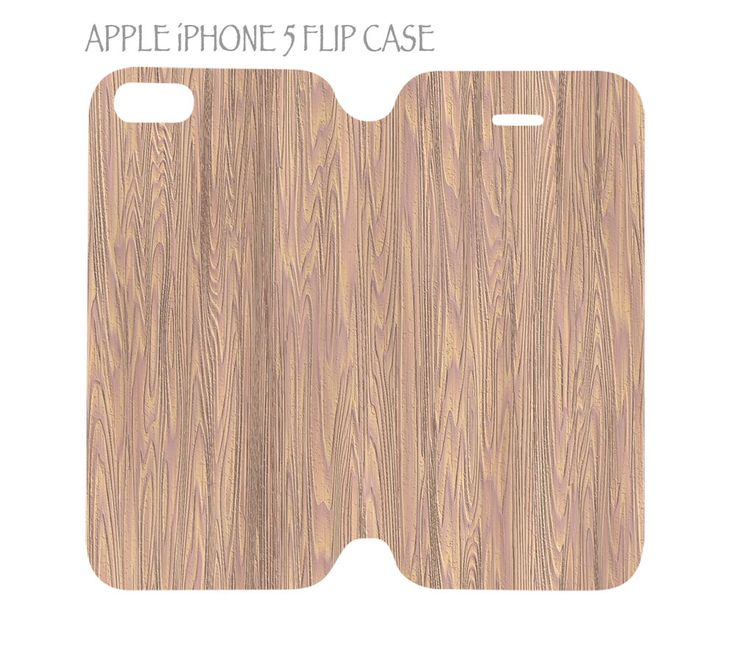 iPhone 5 / 5s Flip Case Folio Cover Luxury Wood Grain Nature Pattern #04  #QuinnCafe