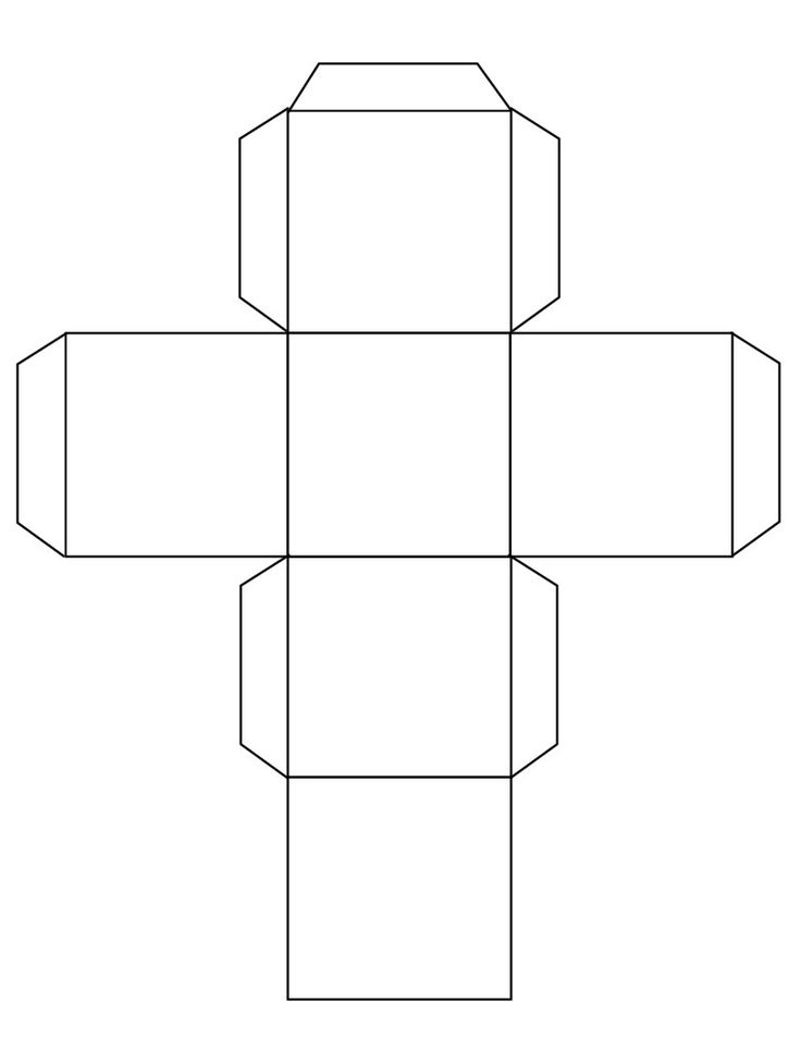 Cube template free to use templates pinterest Make your own 3d shapes online