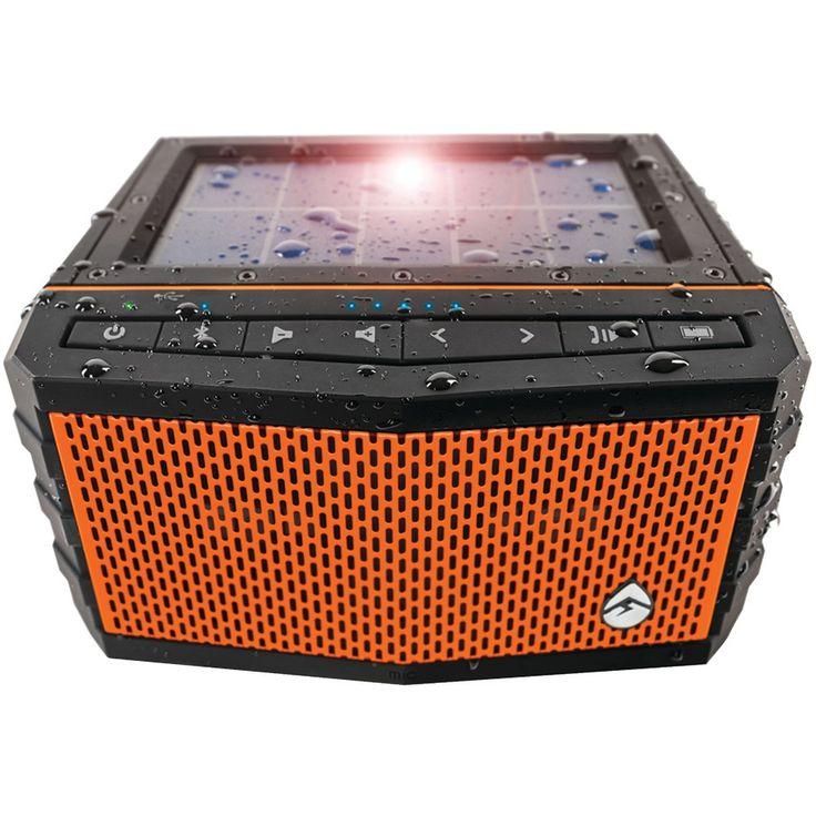Ecoxgear Soljam Solar-powered Waterproof Speaker (orange)