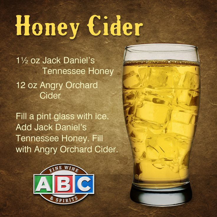 Jack Daniel's Tennessee Honey + Angry Orchard Cider = delicious Honey Cider cocktail