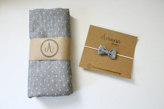 This gender neutral Chambray Dobby Indigo Swaddle is handmade from a soft double gauze in a generous 36x40 size for the perfect swaddle. This swaddle is lightweight, breathable and made from a high quality fabric for lasting snuggles. It is perfect for adorable newborn photos, a car or stroller blanket or even as a nursing cover for on the go feeding. Order the swaddle on its own or with a matching little bow headband.  Amana Design accessories are perfect for dressing up every occasion…
