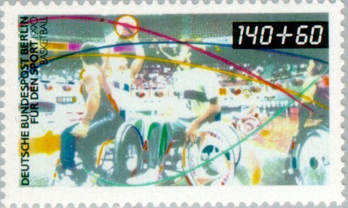 Stamp: Wheelchair Basketball (Berlin) (Sports Aid) Mi:DE-BE 865,Sn:DE…