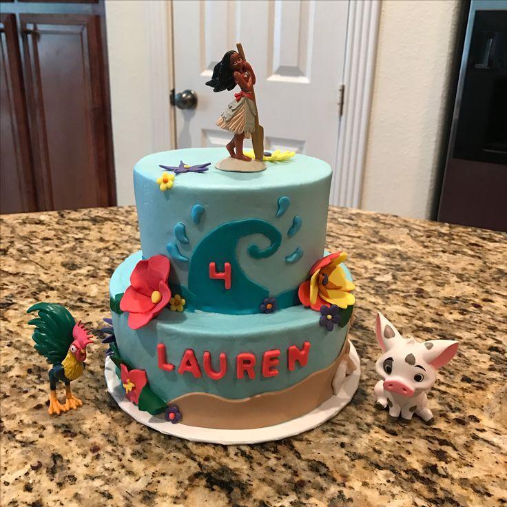 Moana, Púa, and Hei Hei birthday cake. https//www