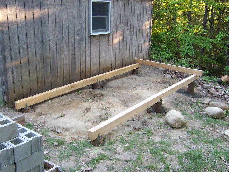 how to build a shed foundation on a slope