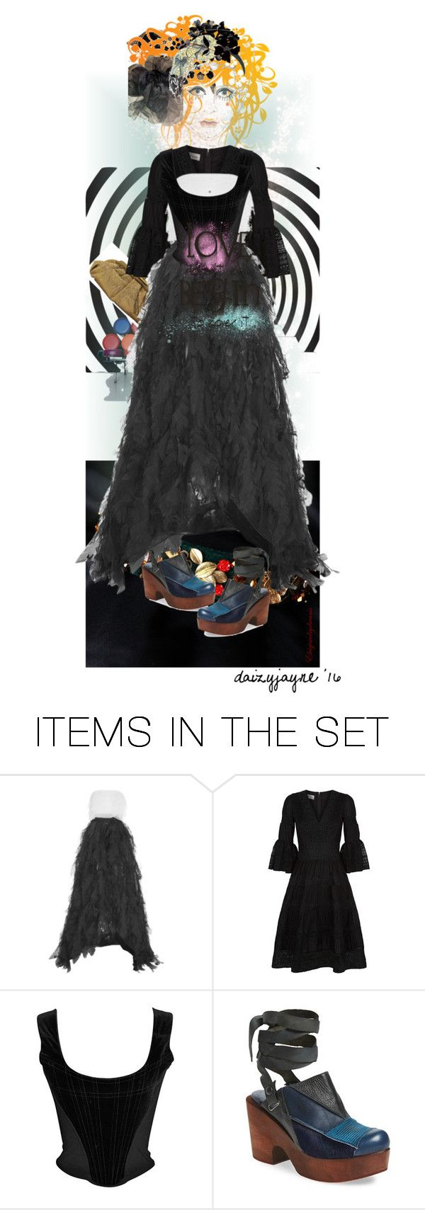 """""""modern goth"""" by daizyjayne ❤ liked on Polyvore featuring art, modern and contestentry"""