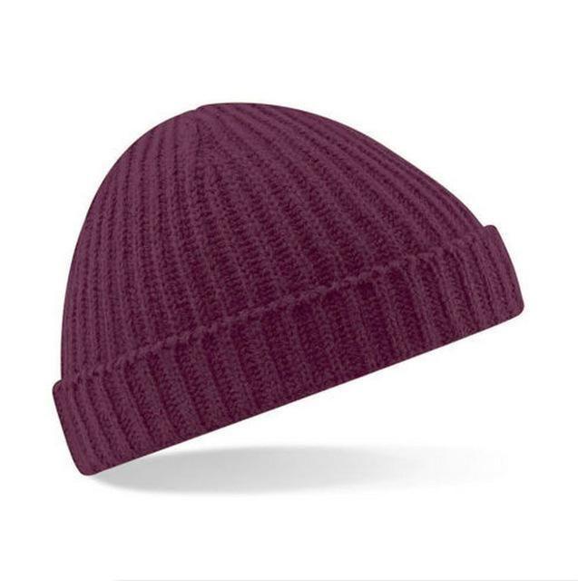 2017 short style winter woman warm hats vintage Vertical stripes Knit Hat Beanies man hat Toucas Bonnet Crochet Cap Skullies