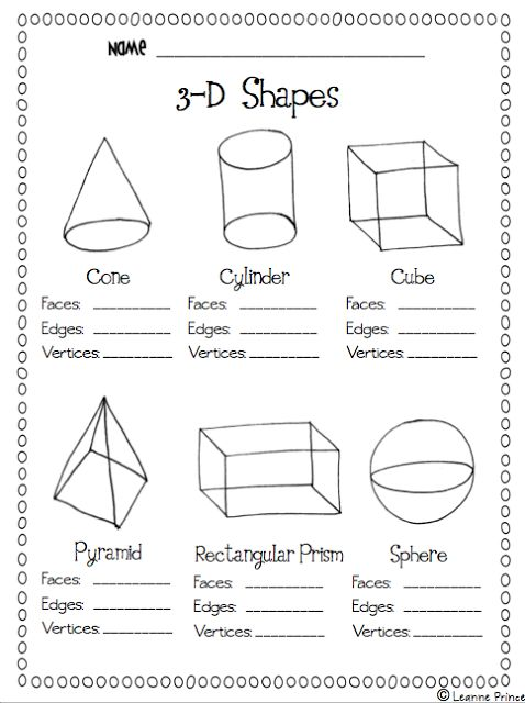 Love this #printable on shapes.  Easy practice!