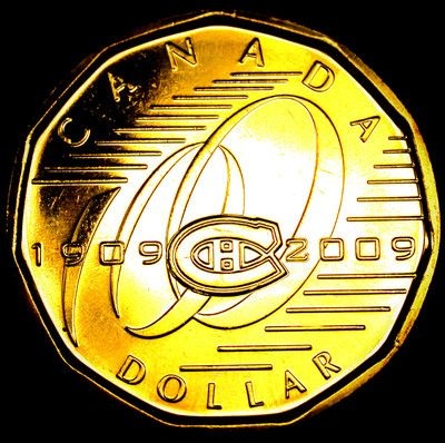 2009 Montreal Canadiens LOONIE Coin Uncirculated MINT +