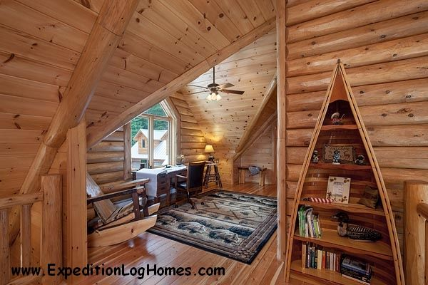 8 best images about log home office on pinterest coins for Log cabin window treatments