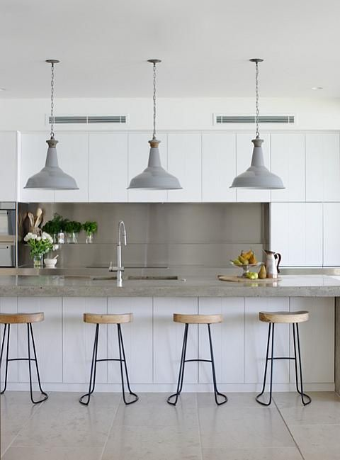 12 Cool Counter Stools. Love the white cabinets too.