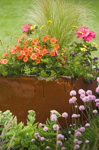 From the bucks you ll save to the boundless array of for Perennial container garden designs