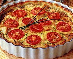Quiche aux tomates et lardons