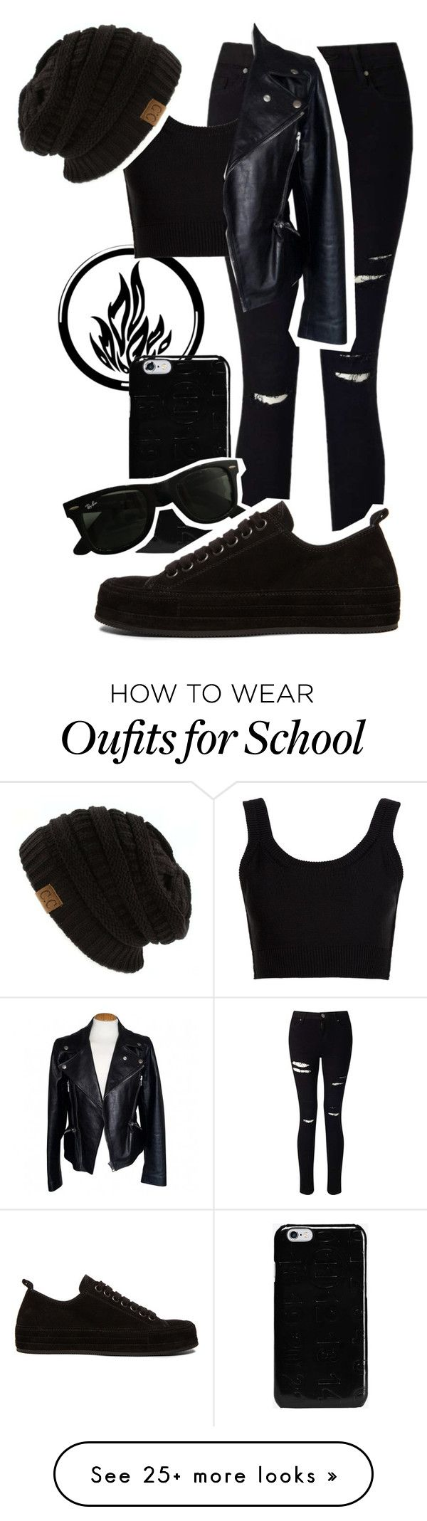 """""""Dauntless - Back to school"""" by hipstermonkey12 on Polyvore featuring Miss Selfridge, Calvin Klein Collection, Maison Margiela, Alexander McQueen, Ray-Ban and Ann Demeulemeester"""