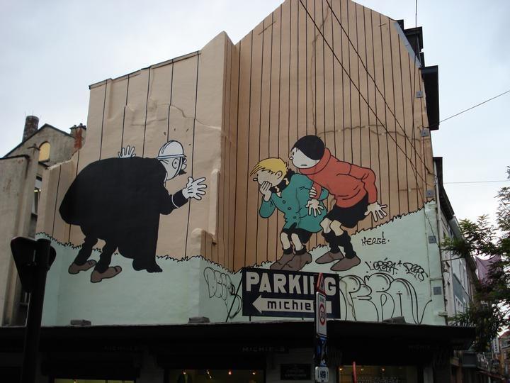 Quick et Flupke - Kwik en Flupke (Hergé - Rue Haute - Hoogstraat)