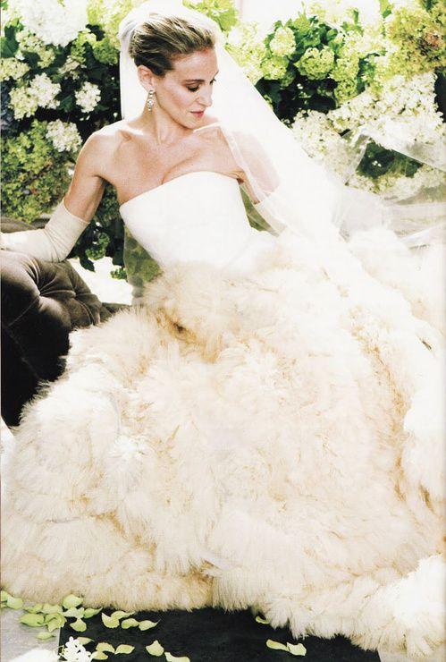 Carrie Bradshaw en robe de mariée Vera Wang dans le film Sex in the City