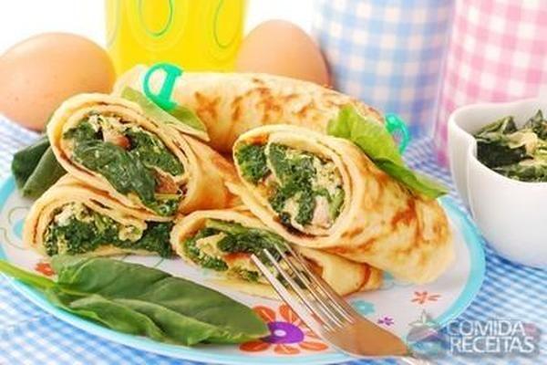 Receita de Panqueca de espinafre em receitas de massas, veja essa e outras receitas aqui!