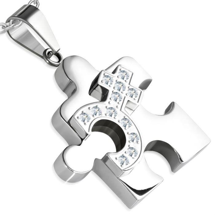 Puzzle ocelový přívěšek