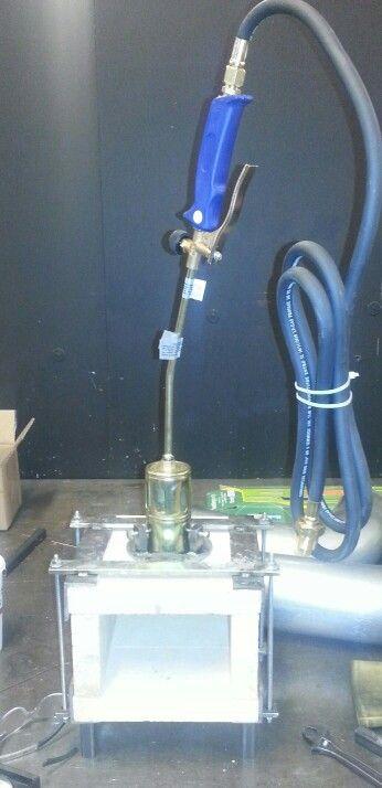 Homemade propane forge