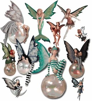 Amy Brown - Fairy Divas Ornaments- YULE pagan wiccan witchcraft magick ritual supplies