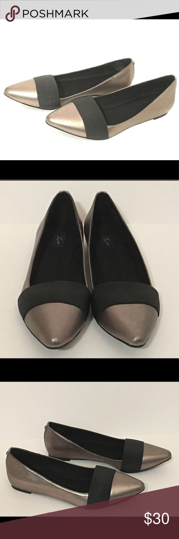 Simply Vera Wang Women's Pointed Toe Flats Pewter Brand New in Box Never Worn ~ Pointed Toe Slip-on Flats in Metallic Pewter.  Very chic, sleek and effortless style for day or night! Simply Vera Vera Wang Shoes Flats & Loafers