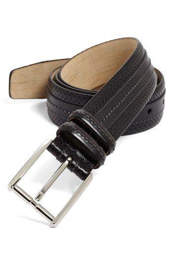 Men's Big & Tall Mezlan 'Parma' Perforated Belt