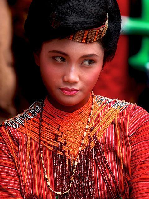 Portrait of a Torajanese woman by Mathias Kellermann