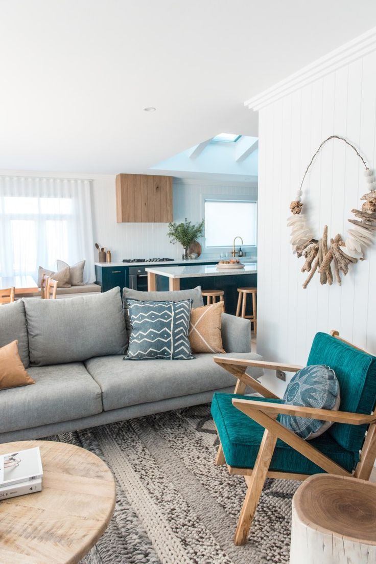 living room palette. From 70s Brick Box to Timeless Beach House - House Nerd