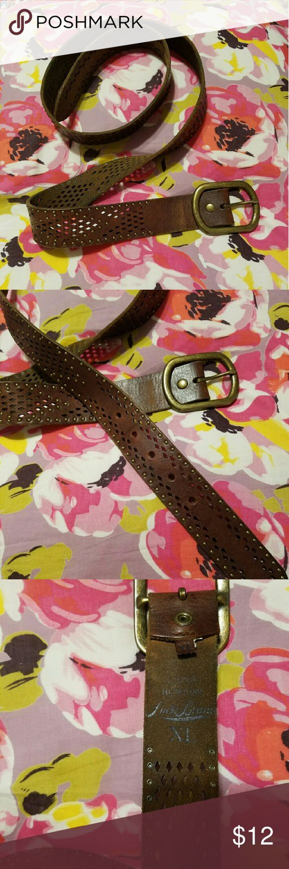 Lucky Brand Leather Belt | XL Authentic Leather Lucky Brand Belt.  XL.  Gold belt buckle. Lucky Brand Accessories Belts