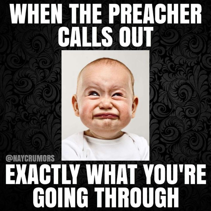 So true. When the preacher knows what's up