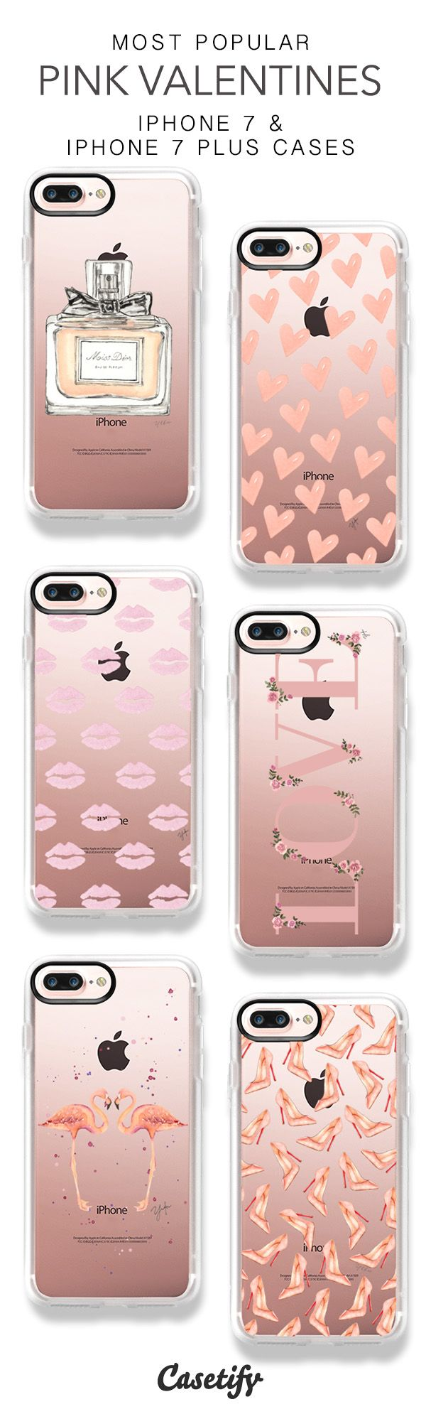 Most Popular Pink Valentines iPhone 7 Cases & iPhone 7 Plus Cases here > https://www.casetify.com/ylfagronvoldstudio/collection