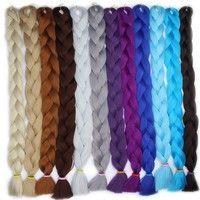 Wish | 82Inch 165G/PC Synthetic Jumbo Braid Hair Kanekalon Blonde Crochet Braid Hair Extensions