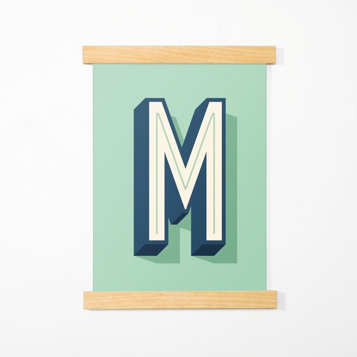 Letter Posters, Mint, A3 - Made of Sundays