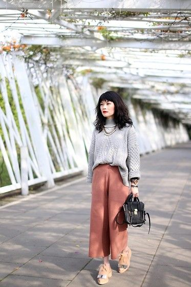 Sweater, Sela Wide Pants, Marni Oxford, 3.1 Phillip Lim Mini Bag