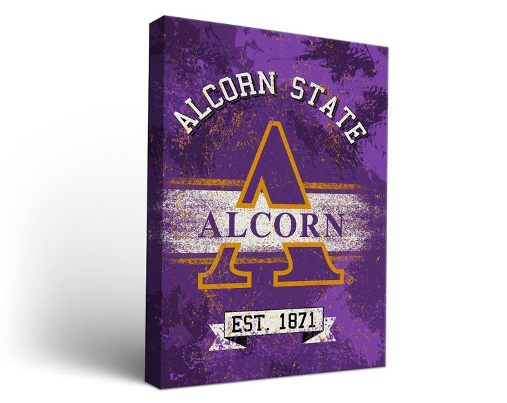 Alcorn State Braves Classic Canvas Wall Art Rectangle