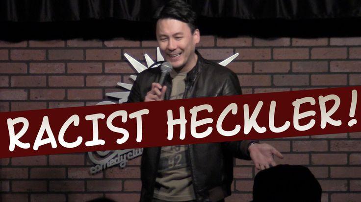 Funny Asian Comedian vs. Racist Heckler (uncensored)