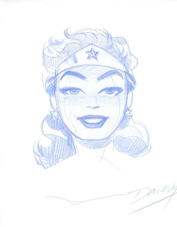 Cooke Wonder Woman Comic Art